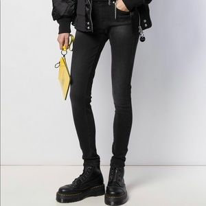 DIESEL super slim skinny low waist black jeans